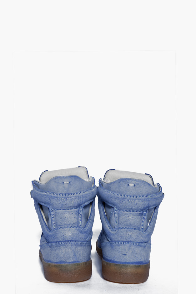Maison Martin Margiela Distressed Blue Sneakers for women