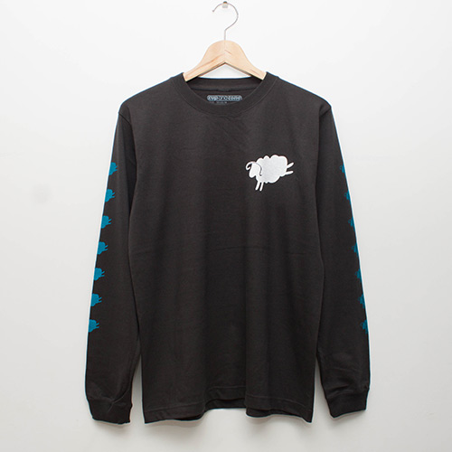 7 Sheeps L/S - Charcoal - cup and cone WEB STORE