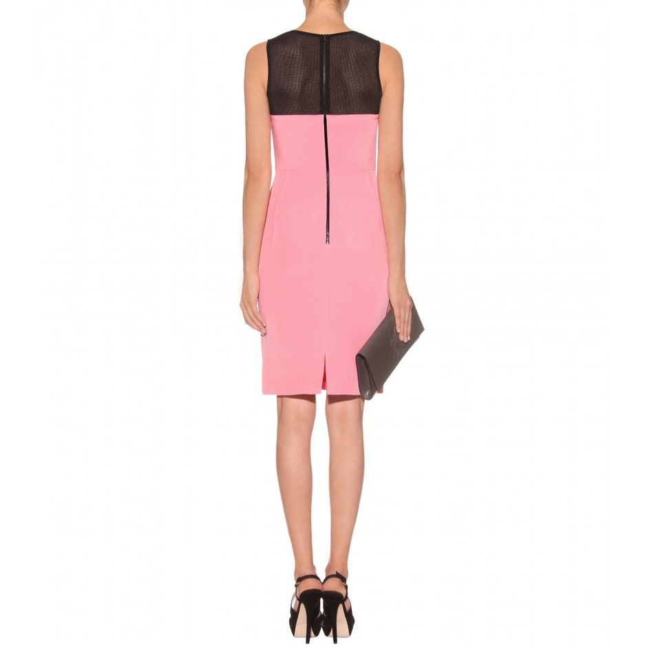 mytheresa.com - Jason Wu - SILK DRESS WITH NETTED A YOKE - Luxury Fashion for Women / Designer clothing, shoes, bags