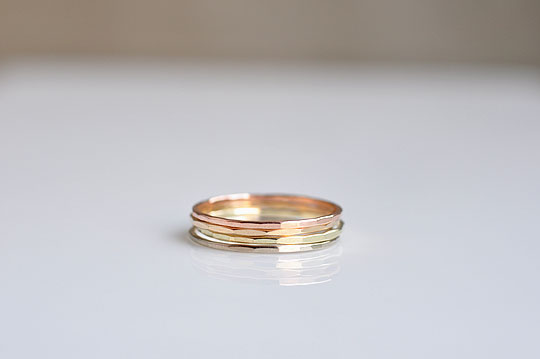 Gold Stacking Rings / 4pieces Set (Melissa Joy Manning) - SOURCE objects