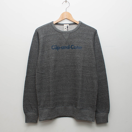 Ice Cream Heather Sweat - Grey - cup and cone WEB STORE