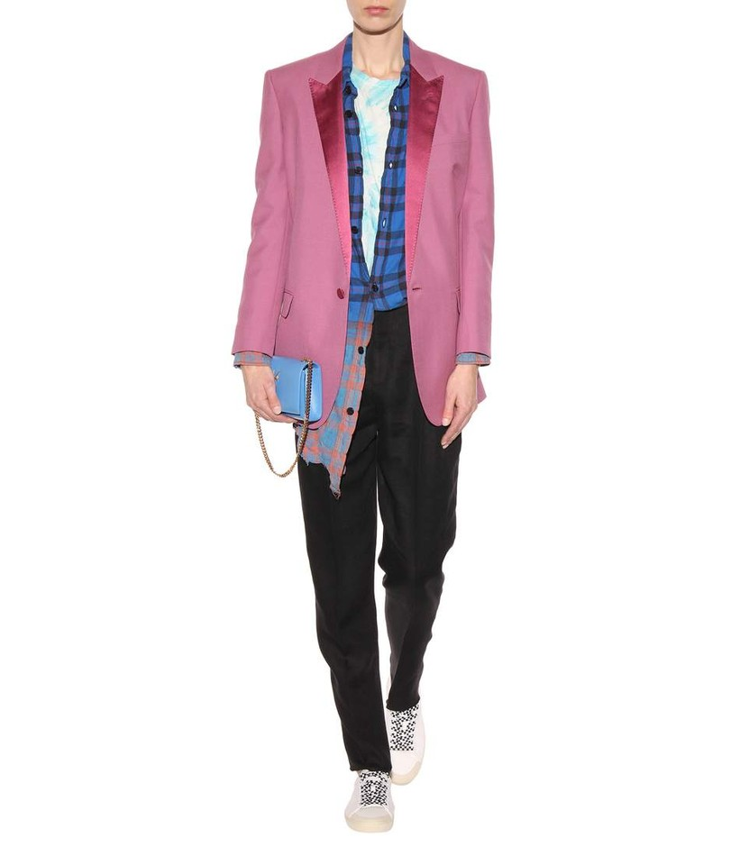 mytheresa.com - Wool and mohair jacket - Luxury Fashion for Women / Designer clothing, shoes, bags