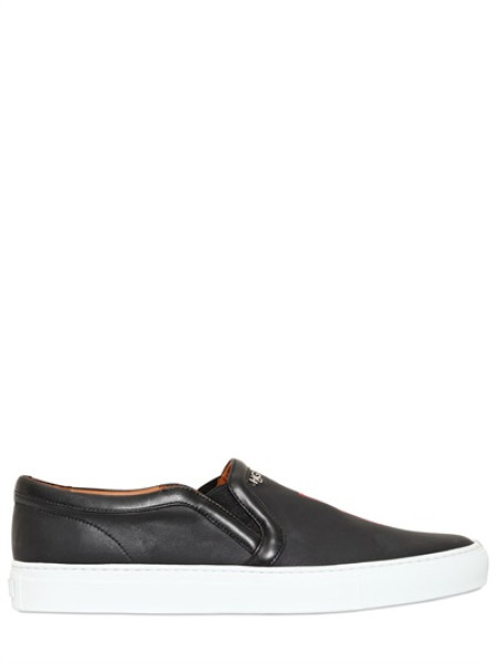 GIVENCHY - LEATHER '17' SLIP ON SNEAKERS - LUISAVIAROMA - LUXURY SHOPPING WORLDWIDE SHIPPING - FLORENCE