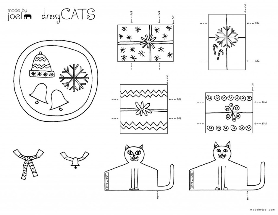 Dressy Cats Winter Holiday Sets for Hanukkah and Christmas | Made by Joel