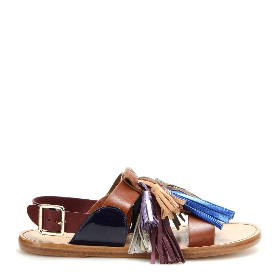 mytheresa.com - Clay leather sandals - Flat - Sandals - Shoes - Isabel Marant - Luxury Fashion for Women / Designer clothing, shoes, bags
