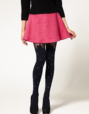 House of Holland for Pretty P | House of Holland For Pretty Polly Exclusive To ASOS Pearl Super Suspender Pearl Tights at ASOS
