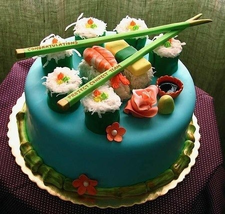 Cooking / Sushi deco cake!