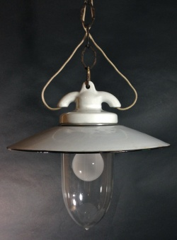 SOLD OUT - 1930's German Deco Pendant Light【White】 - FUNNY SUPPLY □ Antiques ■