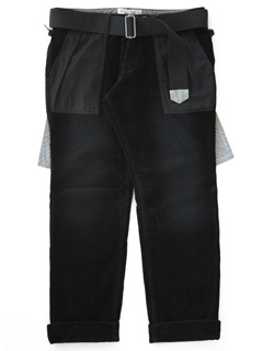 LOVE online store|MEN  Cord Trousers (black)