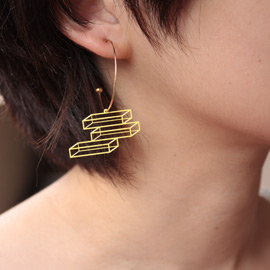 【楽天市場】lilldesignlab オリジナル > Accessory アクセサリー > lilldesignlab Space Figure Hoop Pierce:monolab +design store
