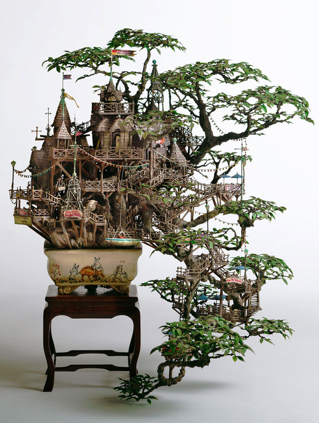 Incredibly Elaborate Tiny Building Sculptures by Takanori Aiba