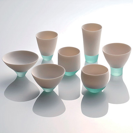 Glass-porcelain fusion 静かな空