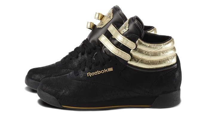 Anniversary/Black/ReebokBrass - Freestyle Hi 30th - Reebok