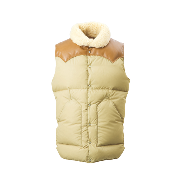 Rocky Mountain Featherbed : CHRISTY VEST/NYLON TAN