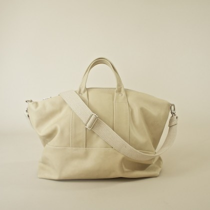 Oversized Weekday Bag in Beurre in Buttery Soft Leather by rib & hull