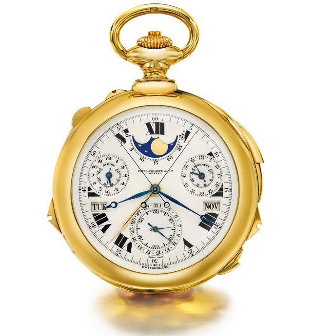 $24,000,000 Patek Philippe Supercomplication Pocket Watch Beats Its Own Record At Auction