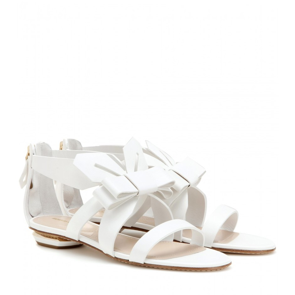 mytheresa.com - Origami leather sandals - Flat - Sandals - Shoes - Nicholas Kirkwood - Luxury Fashion for Women / Designer clothing, shoes, bags