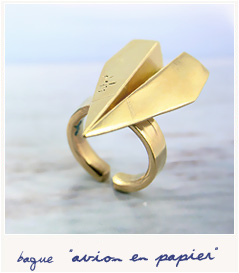 Paper plane ring by Defy - Bird on the wire
