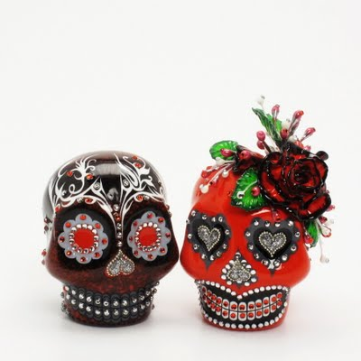 Skull Wedding Cake Toppers: Day Of The Dead Skull Lover Dia De Los Muerto 0078