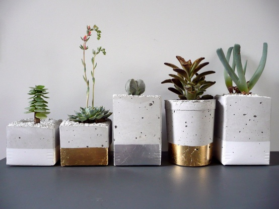 diy / dipped cement planters, by Oh Laszlo