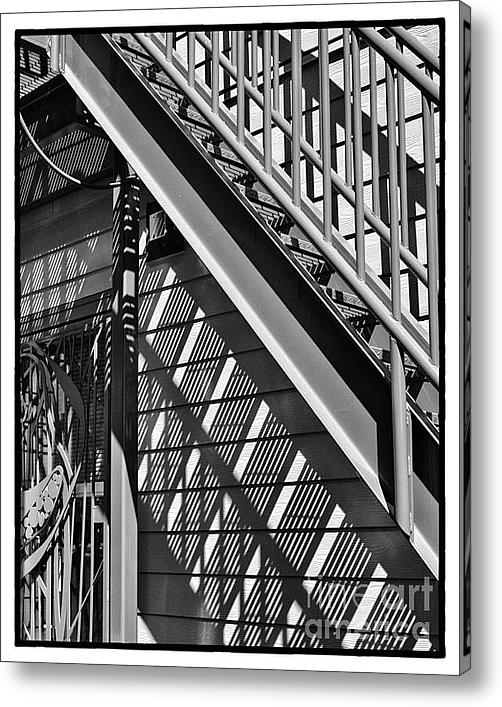 Sheltering Stairs Acrylic Print By James Rowland
