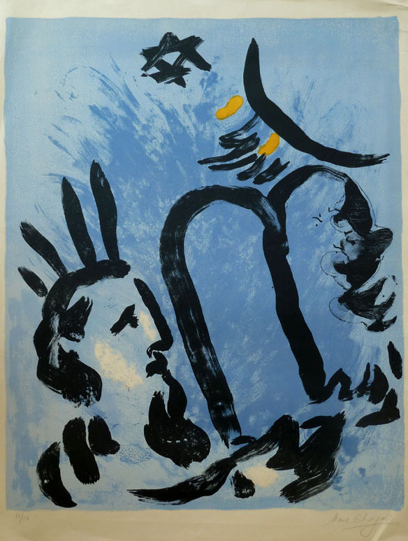 Moses by Marc Chagall at Gilden's Arts Gallery - Printed Editions - Printed Editions