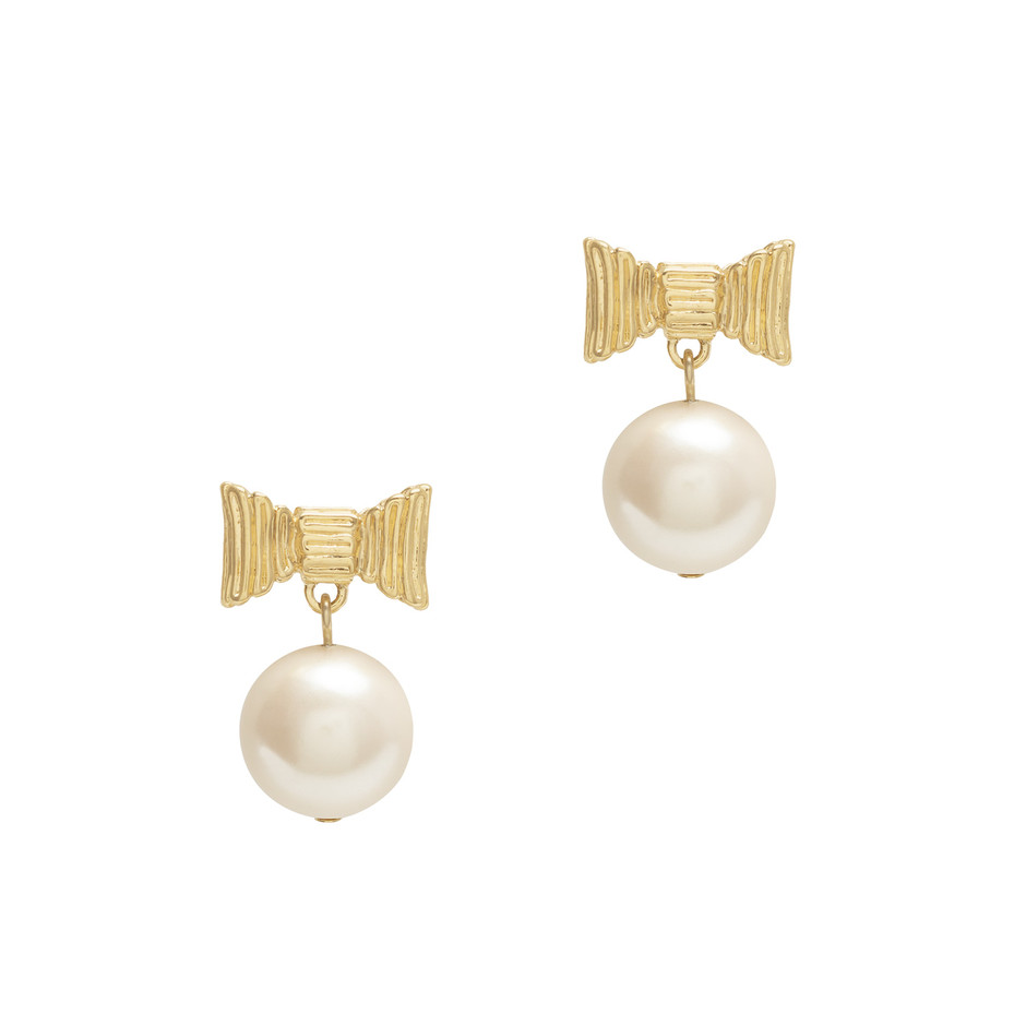 kate spade new york | 商品詳細 all wrapped up pearls drop earrings