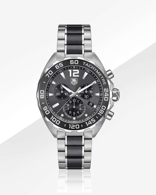 FORMULA1 200MChronograph42MM Anthracite with « sunray » effect Ceramic bracelet   TAG Heuer