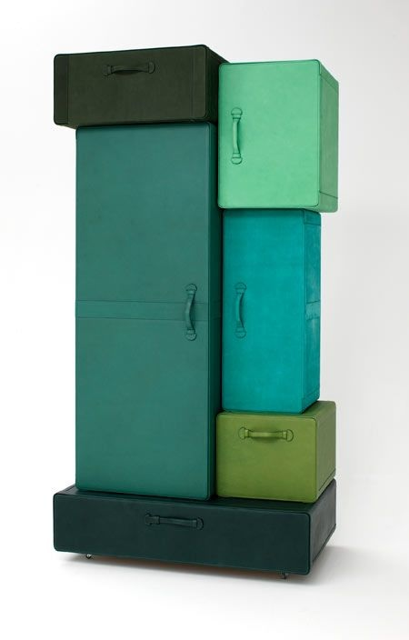 Hot or Not?: A Pile of Suitcases Wardrobe by Maarten de Ceulaer | Apartment Therapy