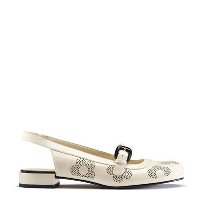 Orla Kiely | UK | Accessories | Shoes | Milly Shoe (0CLKMIL205) | Cream