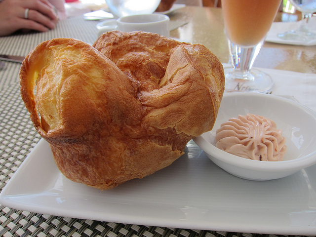 popover with strawberry butter at Mariposa | Flickr - Photo Sharing!