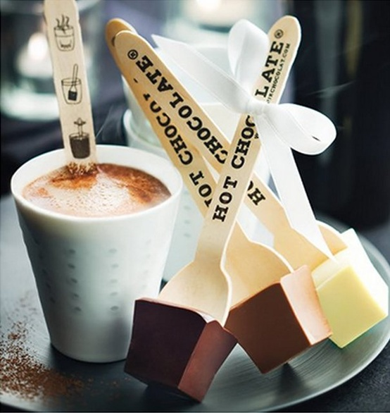 Hot chocolate spoons from Le Comptoir de Mathilde | Drinks | Lay the table