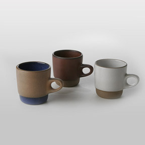 Heath Ceramics Rim Stackable Cups at Velocity Art And Design - Your home for modern furniture and accessories in Seattle and the US.