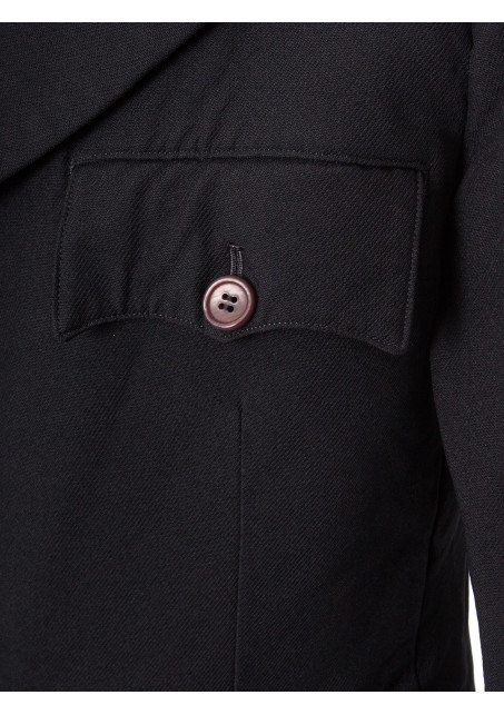 Comme des Garcons Homme Plus | Tailored Military Blazer Black | Shop Now at Hervia.com