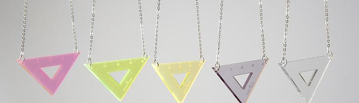 measuring triangle necklace
