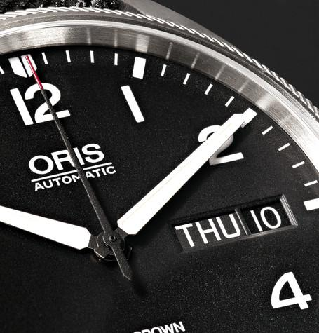 Oris - Big Crown ProPilot Day-Date Stainless Steel and Canvas Watch