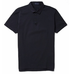 Lanvin Grosgrain-Collar Cotton-Piqué Polo Shirt Online