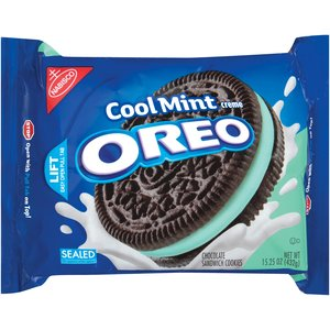 Nabisco Oreo Chocolate Cool Mint Creme Sandwich Cookies, 15.25 oz: Snacks, Cookies & Chips : Walmart.com