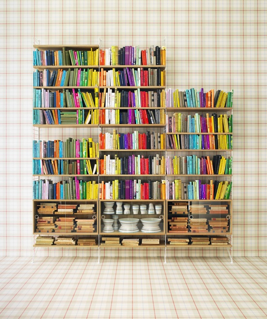 inspiring bookshelf display | Books, books & more books... | Pinterest