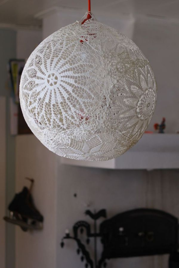 Lace / A lace lantern for our bedroom