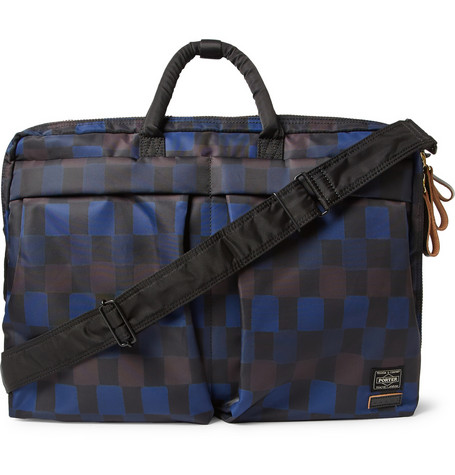 Marni - + PORTER Check-Print Nylon Convertible Messenger Bag | MR PORTER