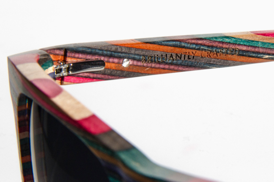 Diamond Supply Co. Brilliantly Crafted 100% Recycled Skateboard Wood Sunglasses & iPhone 5 Case   Hypebeast