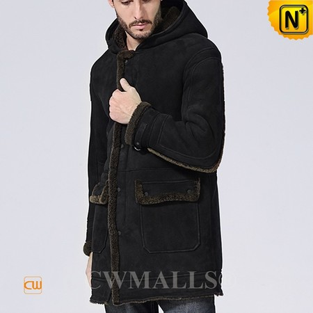 DUTCH Brand | CWMALLS® Rotterdam Hooded Sheepskin Coat Black CW838009 [Black Friday 2017]