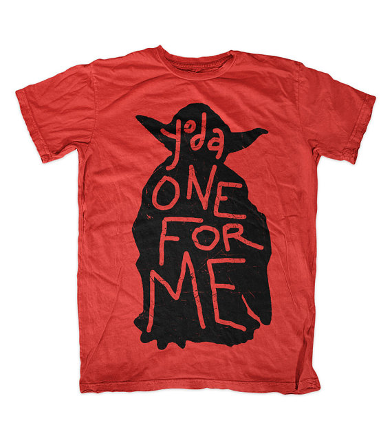 Valentine's Day Yoda One For Me T-shirt for Star by anchored4ever