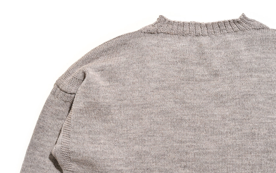 Big Size Guernsey Sweater-Oatmeal