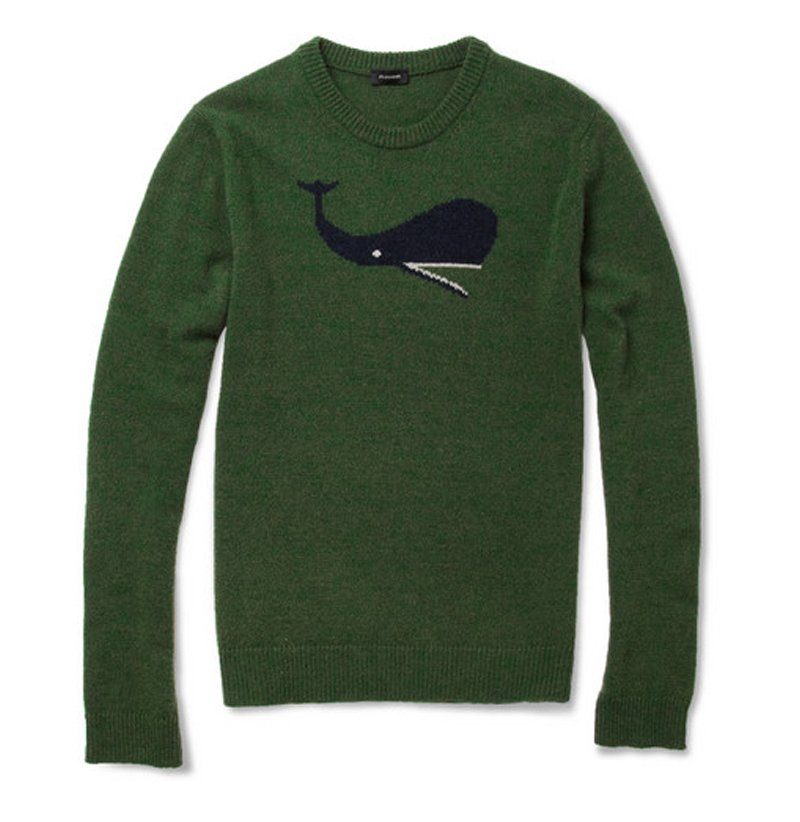 Jil Sander Whale Intarsia Camel and Wool-Blend Sweater | MR PORTER