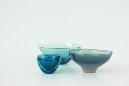 blue tableware from Okinawa