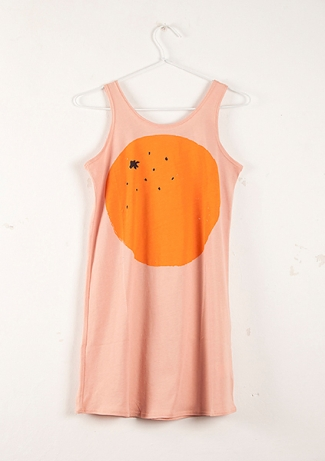 Sleeveless Dress Orange - Bobochoses