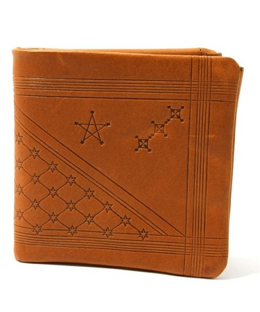 "VEGETABLE TANNED LEATHER BIFOLD WALLET -""Astral Plains"" VERSION"
