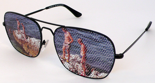 Bless: Nerd Glasses with Beach Print